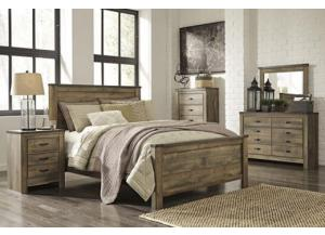 Trinell Queen Panel Bed w/ Dresser, Mirror Chest and Nightstand