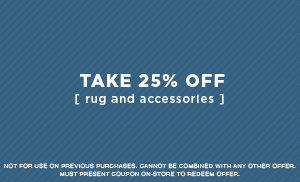 25% Off Rugs and Accessories