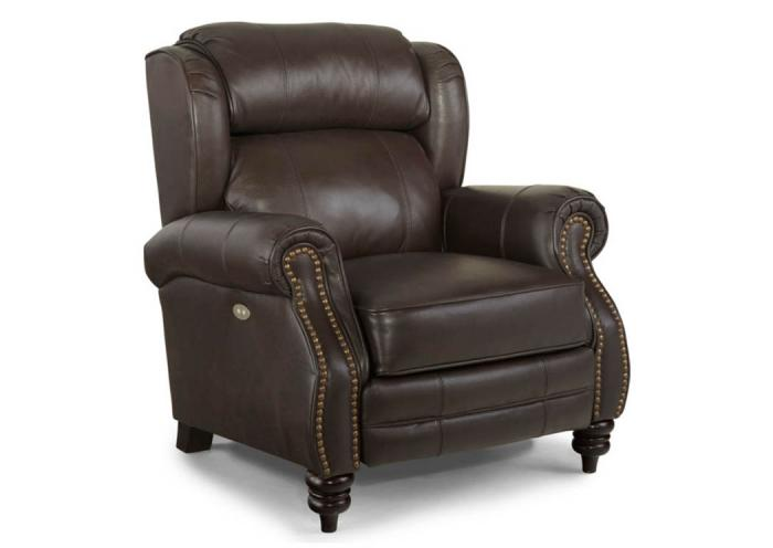 Norwich Leather High Leg Recliner,Broyhill