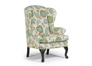 Sylvia Queen Anne Wing Back Chair
