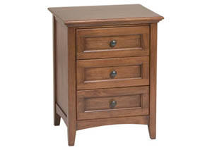 McKenzie 3 Drawer Nightstand