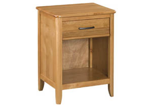 GSP Pacific Alder 1-Drawer Nightstand