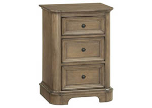 RGB Stonewood Small 3-Drawer Nightstand