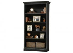 Oxford Center Antique Black Bookcase