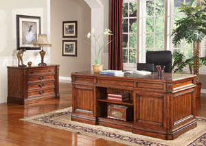 Grand Manor Granada Double Pedestal Desk