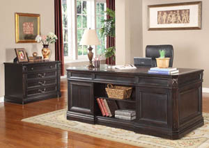 Grand Manor Palazzo Double Pedestal Desk