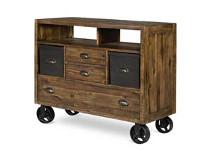 Braxton Media Chest w/Casters