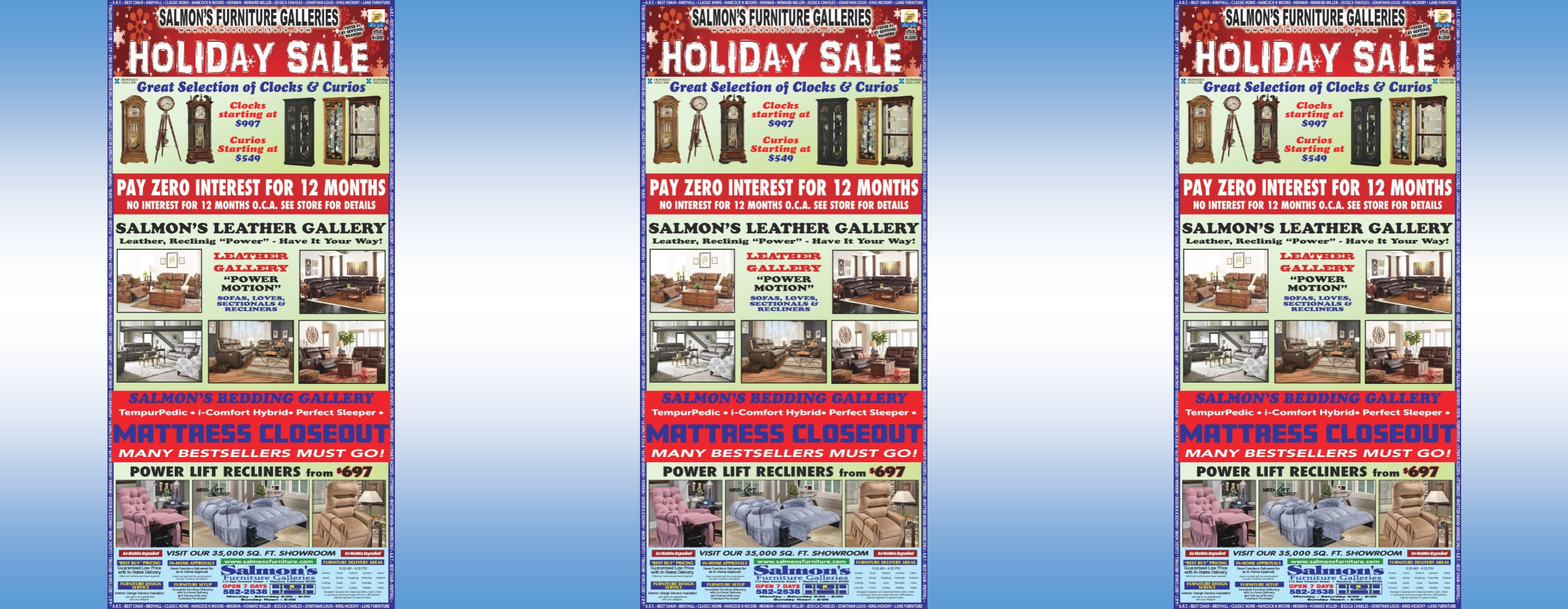 Holiday Newspaper AD 2018