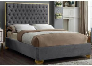 Lexi Gray w/Gold Trim Queen Bed