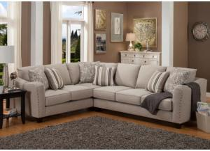 Angelina Sand Sectional Left Tux