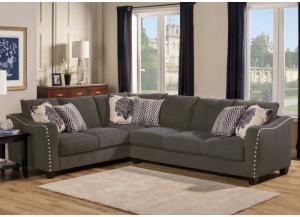 Angelina Charcoal Sectional Left Tux