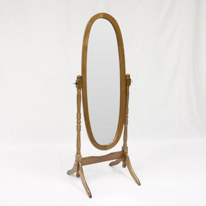 Oak Cheval Mirror,Crown Mark Furniture