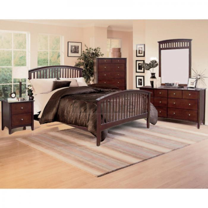 Lawson Cherry Full Bed,Crown Mark Furniture