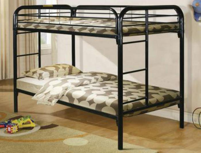 Black Metal Twin/Twin Bunkbed,Home Source Furniture