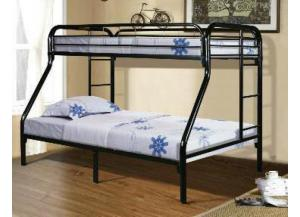 Black Twin/Full Metal Bunkbed