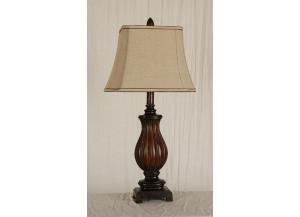 Table Lamp Brown and Bronze Finish