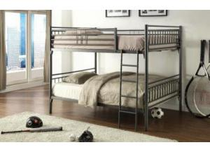 Graphite Finish Full Over Full Metal Bunkbed