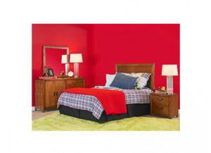 Finley Youth Dresser, Mirror, Full Size Headboard and Nightstand