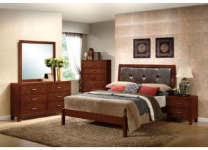 Image for Dark Walnut Dresser, Mirror, Twin Bed and Nightstand