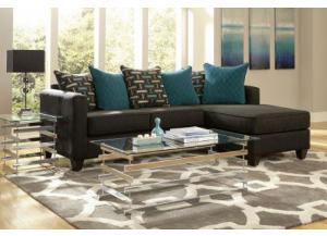 Black Chaise Sectional