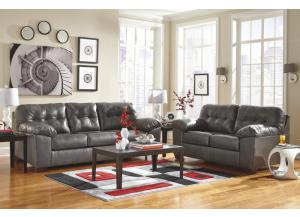 Alliston Gray Sofa & Loveseat
