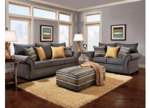 Jitterbug Gray Sofa & Loveseat