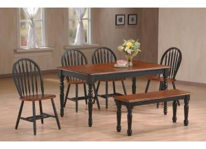 Farmhouse 6 Piece Dinette with Bench