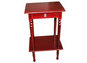 Mahogany Finish Square Accent Table