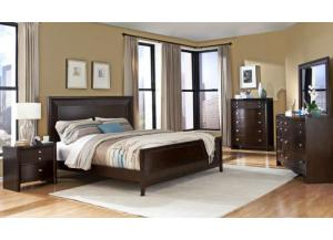 Espresso Finish Dresser, Mirror and Queen Bed