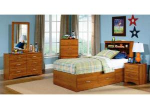 Tanner Youth Twin Bookcase Headboard and Mates Bed