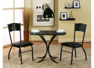 Cameo Black 3 Piece Bistro Set