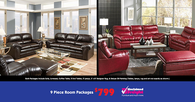 9PC Living Room Package