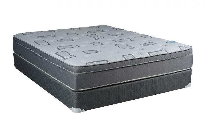 Single Sided Grey and White Medium Plush Eurotop Queen Set,Comfort Mattress