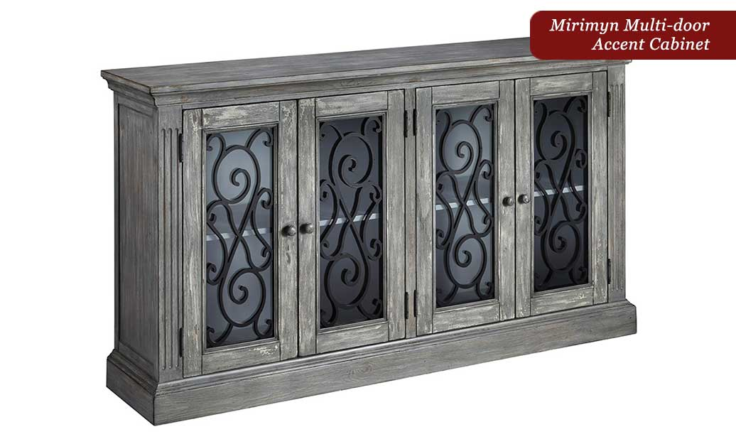 Exceptionnel Trishley Bedroom Set Pantomine Driftwood Sectional Mirimyn Accent Cabinet  ...
