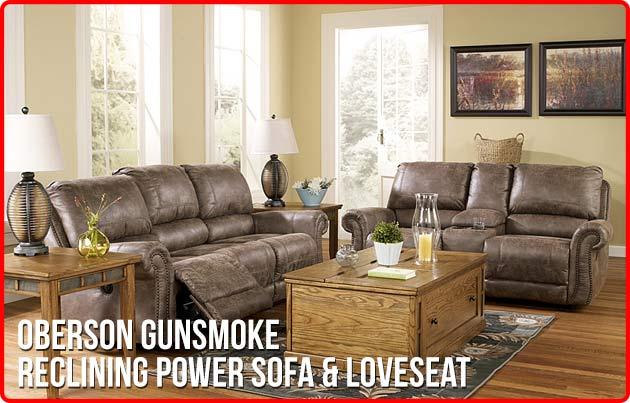 Financing U0026 Leasing Options Oberson Gunsmoke Reclining Power Sofa U0026 Loveseat