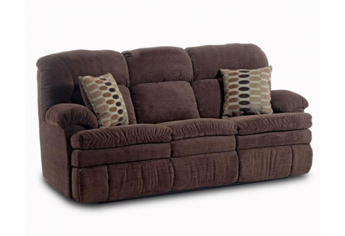 Double Reclining Sofa with Pillows,HomeStretch
