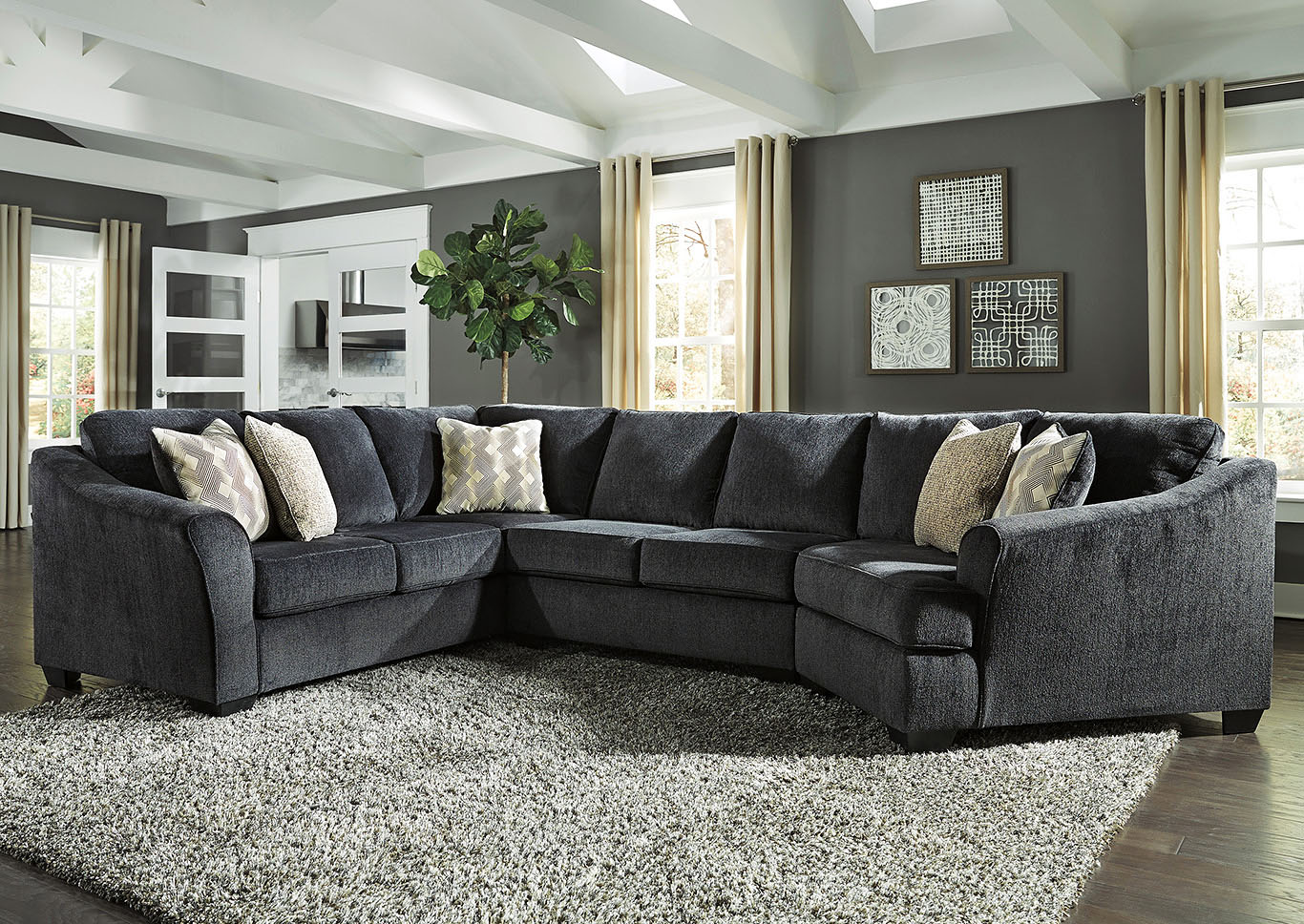 Eltman Slate Sectional,In-Store