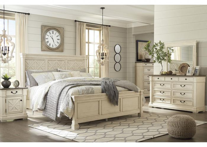 Bolanburg Antique White Queen Panel Bed, Dresser, Mirror, Nightstand, and Chest,Ashley Instore