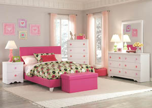 Savanah Full Pink Bed