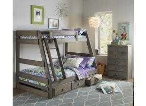 Twin/Full Bunk Bed w/Mattresses (Does not include under-bed storage)