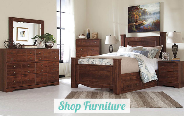 Brittberg Reddish Brown Queen Storage Poster Bed