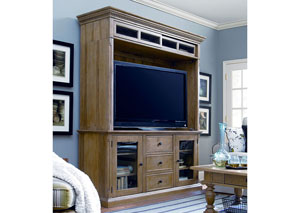 Paula Deen Down Home Oatmeal Entertainment Console w/Hutch