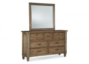 Brownstone Village Aged Patina Dresser/Mirror