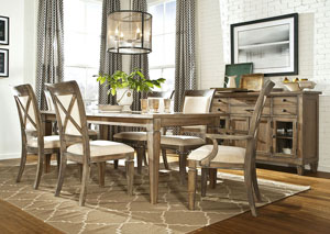 Brownstone Village Aged Patina 5 Piece Dining Set