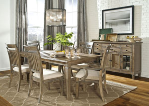 Brownstone Village Aged Patina 7 Piece Dining Set