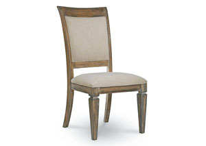 Brownstone Village Aged Patina Upholstered Back Side Chair