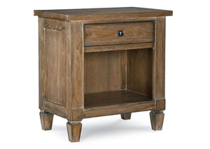 Brownstone Village Aged Patina Open Nightstand