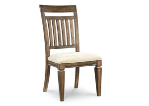 Brownstone Village Aged Patina Slat Back Side Chair