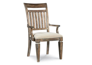 Brownstone Village Aged Patina Slat Back Arm Chair