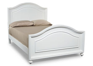 Madison Natural White Painted Panel Full Bed